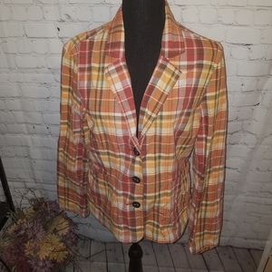 Bass Plaid Blazer